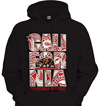 Amazon.com: California Republic Red Bandana Hoodie Hooded Pullover