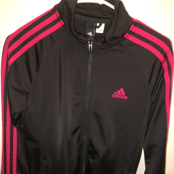 adidas Jackets & Coats | Black And Red Jacket | Poshmark