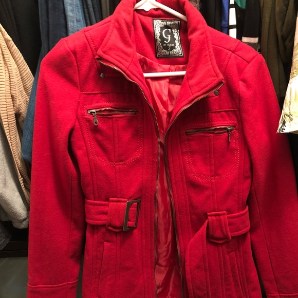 G by Guess Jackets & Coats | Red Jacket | Poshmark