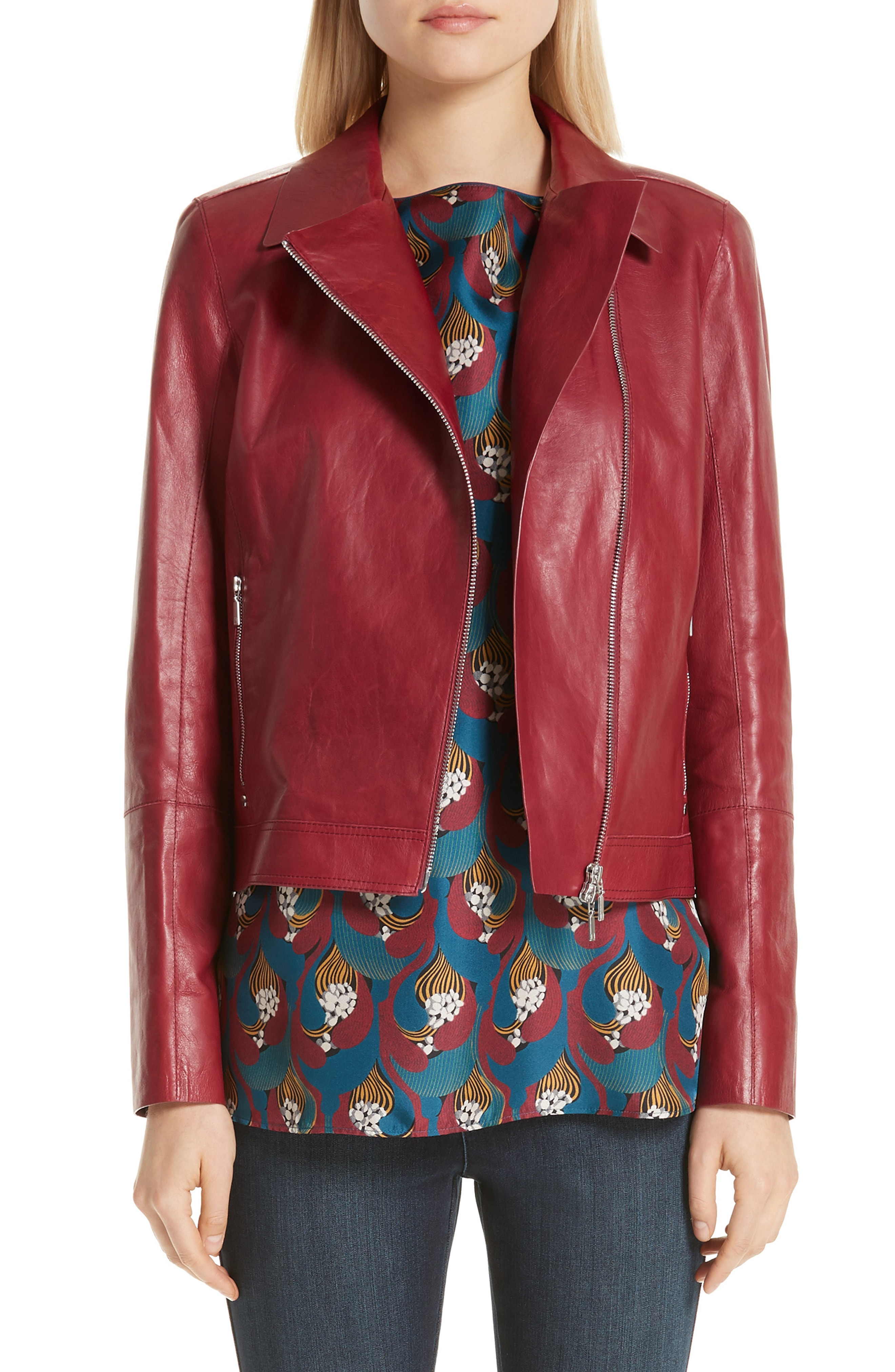 red leather jacket | Nordstrom