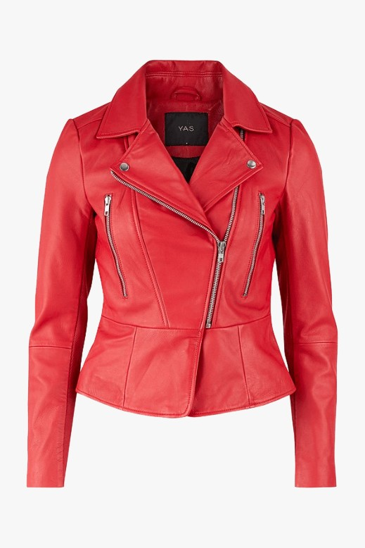 Ayo Red Leather Jacket - Americandreams