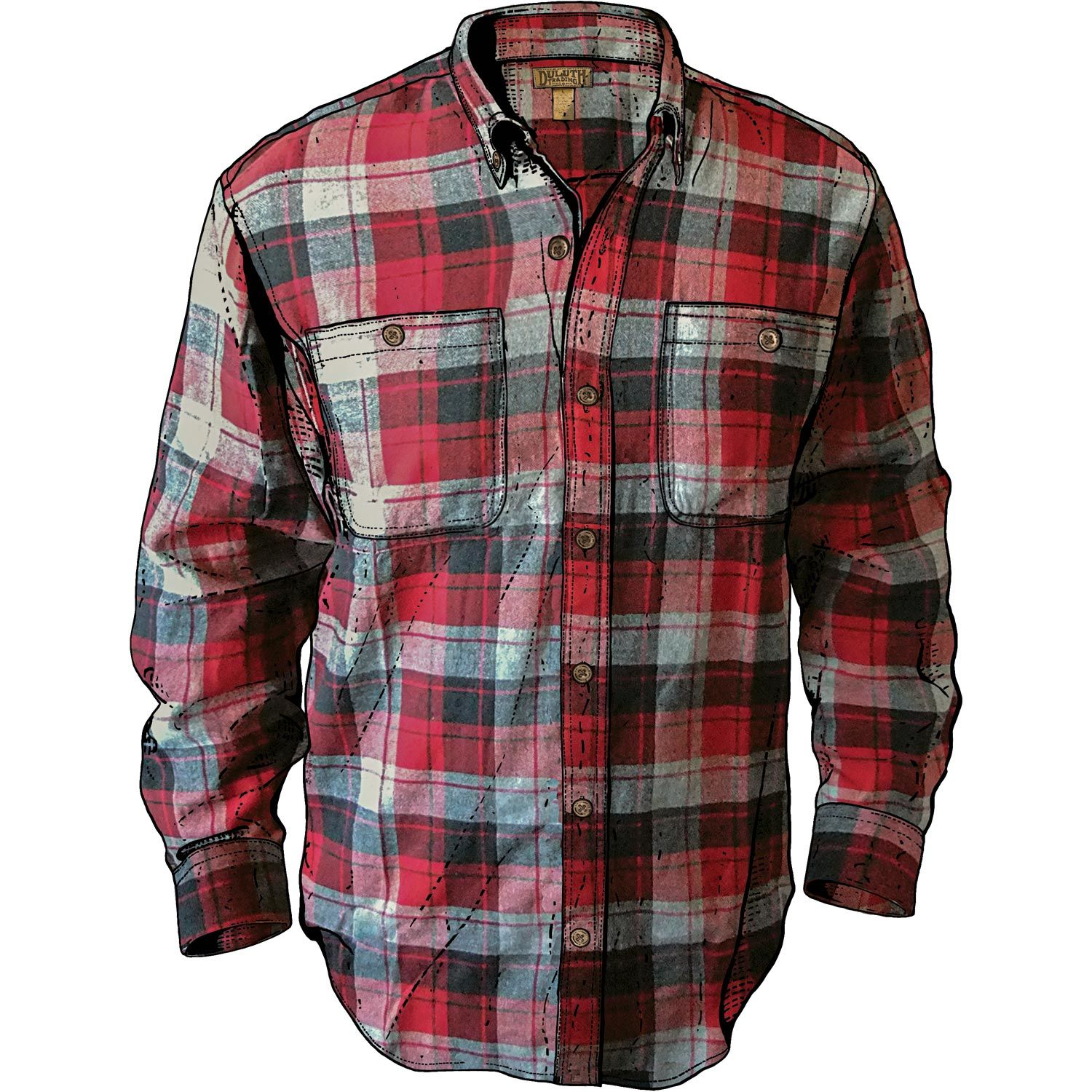 Men's Free Swingin' Trim Fit Flannel Shirt | Duluth Trading Company