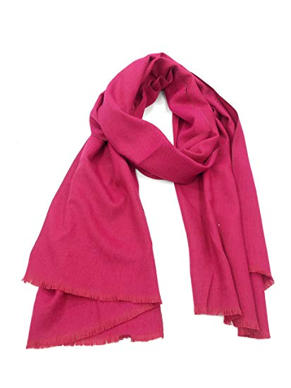 Tudelan Men and Women Classic Cashmere Scarves with Tassels