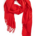 RED SCARVES -for great color accents in the cold season