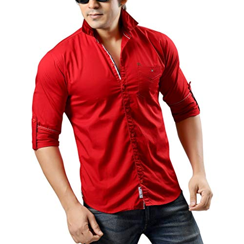 Red Shirt: Buy Red Shirt Online at Best Prices in India - Amazon.in