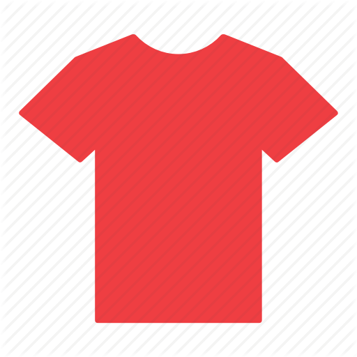 Clothes, clothing, jersey, red, shirt, t-shirt icon