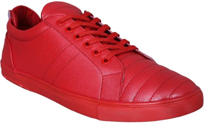 M & M Red Sneakers For Men - Buy Red Color M & M Red Sneakers For