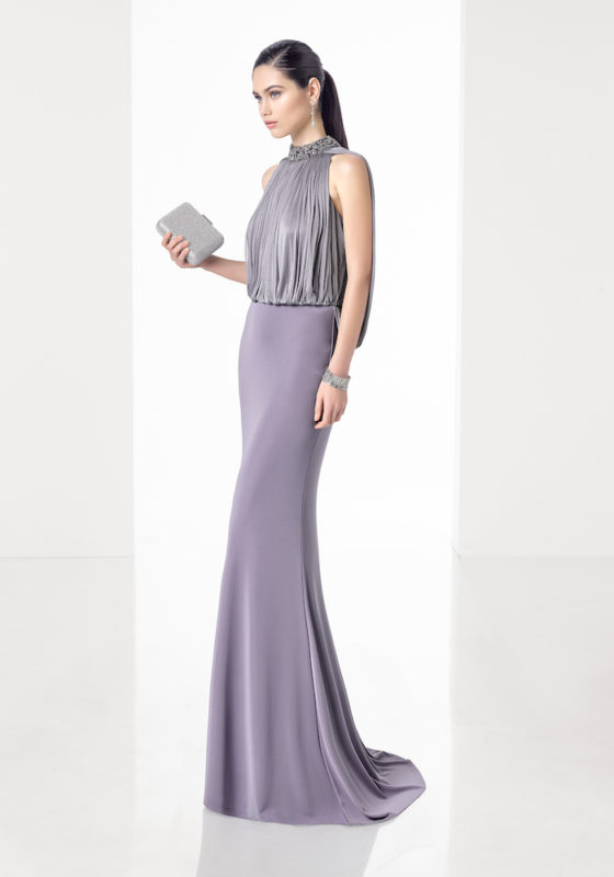 Rosa Clara Cocktail | Purple Evening Dress in Crepe | DBR Weddings
