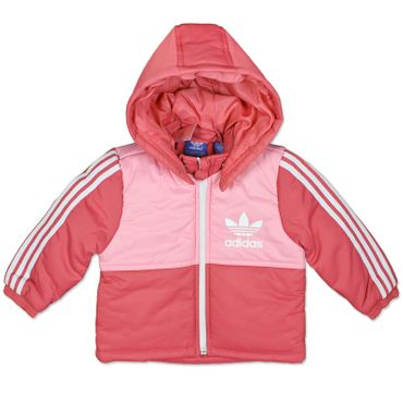 Adidas Originals Baby Kids Padded Winter Jacket Thick Lined Rosa 62