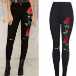 Red rose pants in different shades