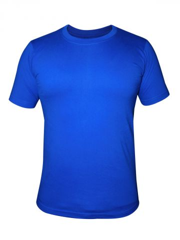 Buy T-shirts Online | Nologo Cotton Royal Blue Round Neck T-shirt