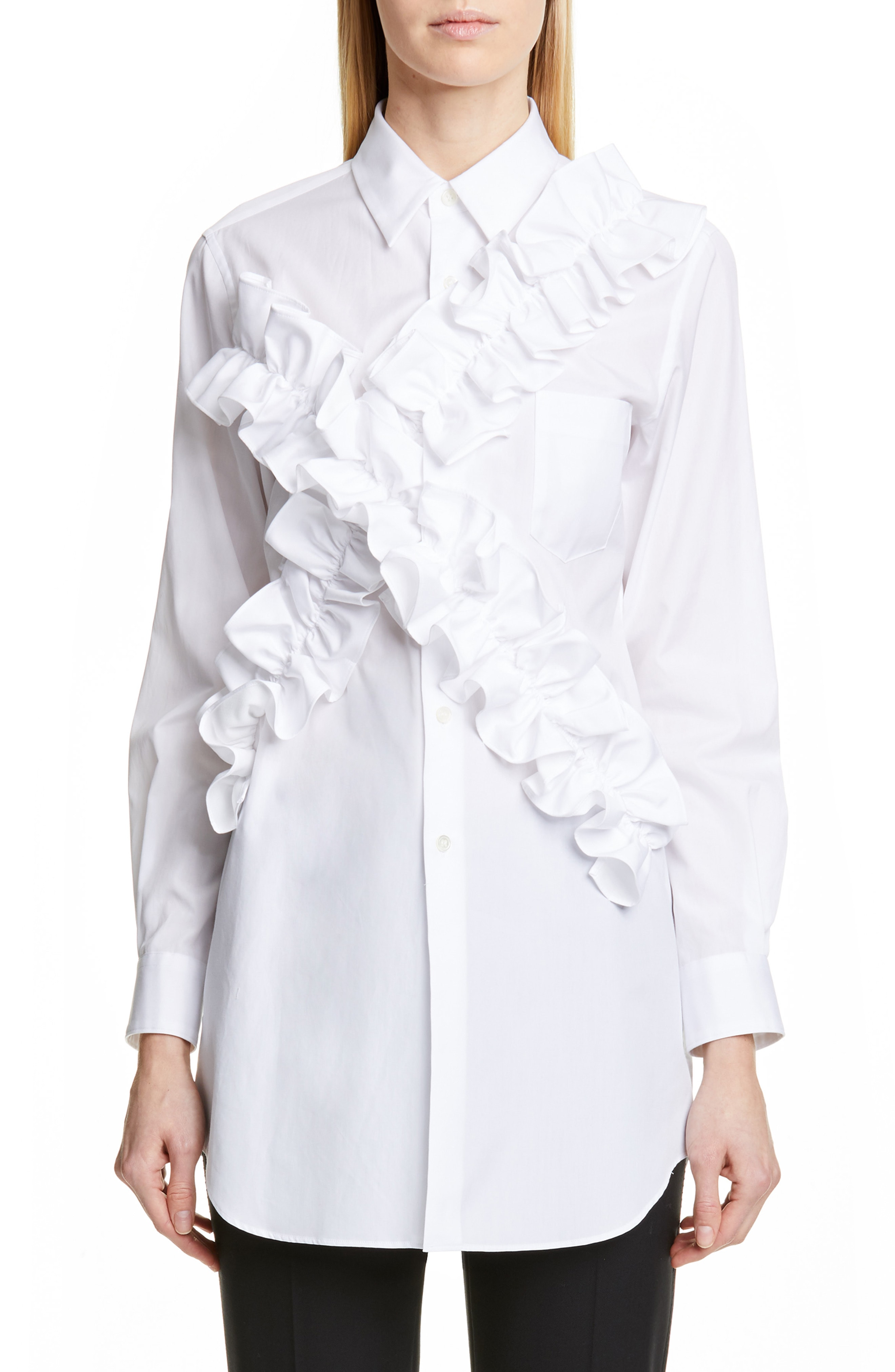 4874ff0902 Ruffle Blouses in White – ChoosMeinStyle