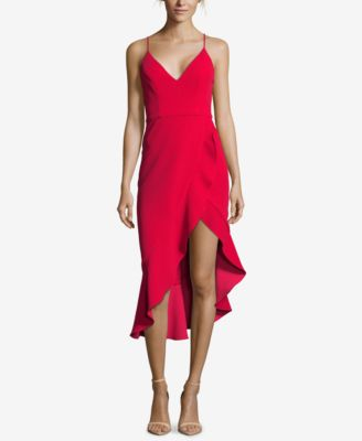 XSCAPE Petite Ruffled Asymmetrical Dress - Dresses - Petites - Macy's