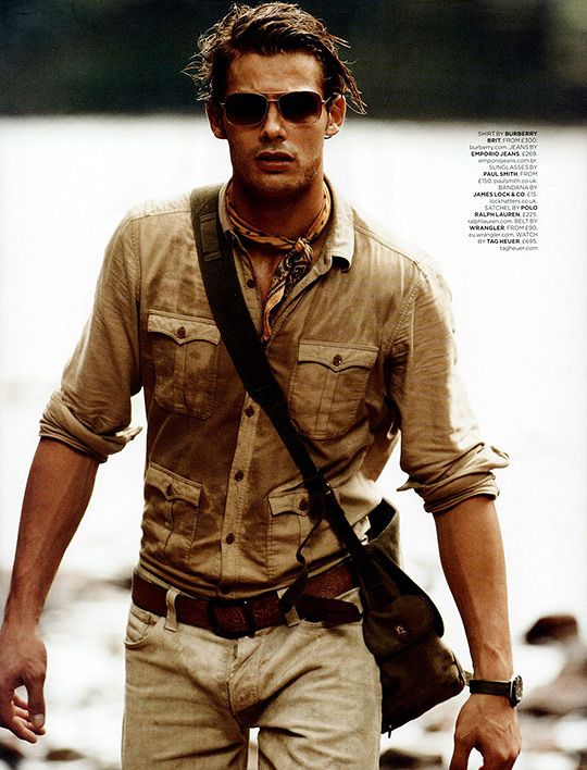 GQ UK; men's fashion editorial; safari inspired style; | safari in