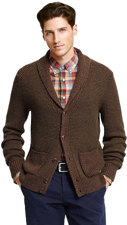 Tommy Hilfiger Final Sale Textured Shawl Collar Cardigan, $129