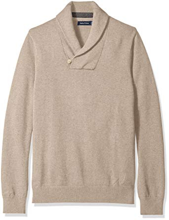 Nautica Men's Button Shawl-Collar Sweater at Amazon Men's Clothing
