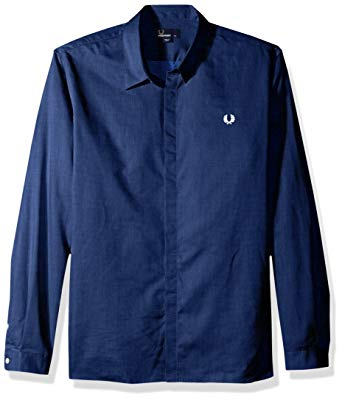 Amazon.com: Fred Perry Men's Concealed Placket Shirt: Clothing