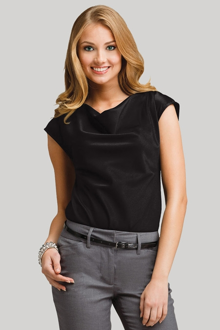 Cowl Neck Blouse - Stylish Corporate Uniforms and Career Apparel