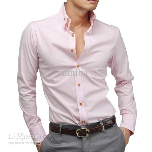 2019 2013 New Mens High Collar Stylish Slim Fit Shirt Busniess