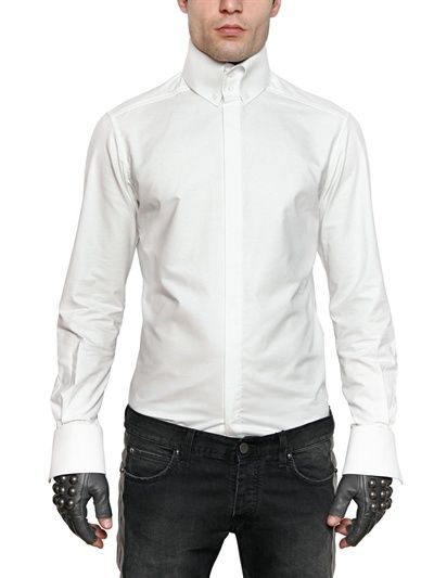 Karl lagerfeld paris - oxford high collar slim fit shirt in 2019