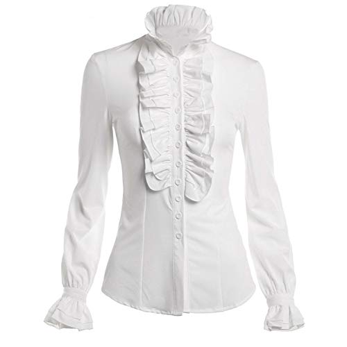 High Collar Blouse: Amazon.com