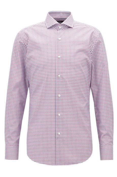 Easy-iron slim-fit shirt with Vichy check by HUGO BOSS | Spring