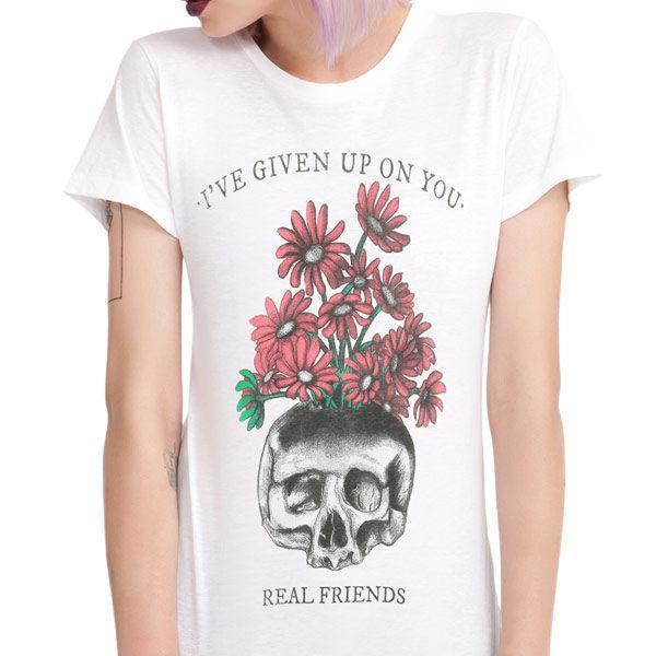 Real Friends Skull T Shirt Size:L NEW & OFFICIAL Fun T Shirt Buy