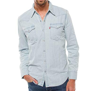 LEVI'S - Casual Shirts - Men - Western Press-Studs Bleached Shirt