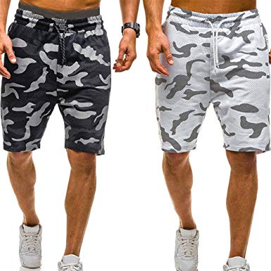 Amazon.com: vermers Mens Summer Casual Cargo Shorts 2018 Camouflage