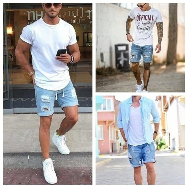 Plus Size Men Short Jeans Men's Fashion Denim Pants Men Short Pants