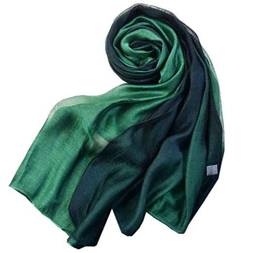 SNUG STAR Cotton Silk Scarf Elegant Soft Wraps Color Shade Scarves