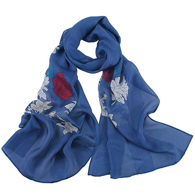 Silk Scarf Women, IRRANI silk scarves Thin and light Neckerchief The