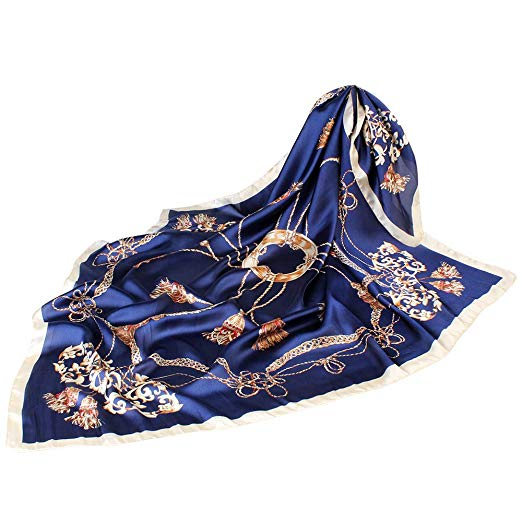 Satin Silk Scarf For Women Size 90cm90cm Large Square Silk Scarves