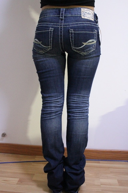 Silver jeans fashion jeans women's , flare pants -in Jeans from