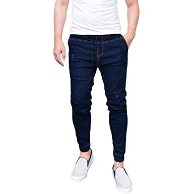 Realdo Mens Skinny Jeans, Stretchy Slim Fit Denim Pants Casual Long