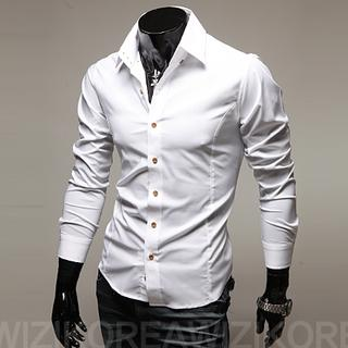 Buy WIZIKOREA Slim-Fit Shirt | YesStyle