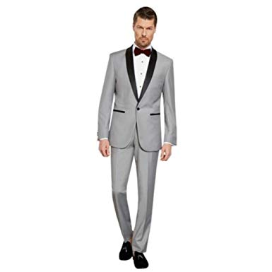 Sebastian Taheri Uomo Mens 1 Button 2 Piece Slim Fit Tuxedo with