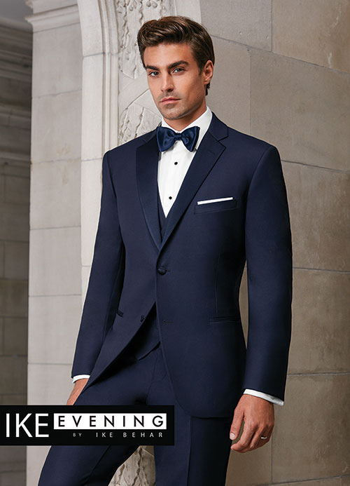 Navy 'SEBASTIAN' Slim Fit Tuxedo by Ike Behar