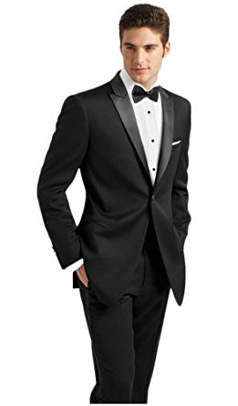 IKE Behar Black Slim Fit Tuxedo with Peak Lapel at Amazon Men's