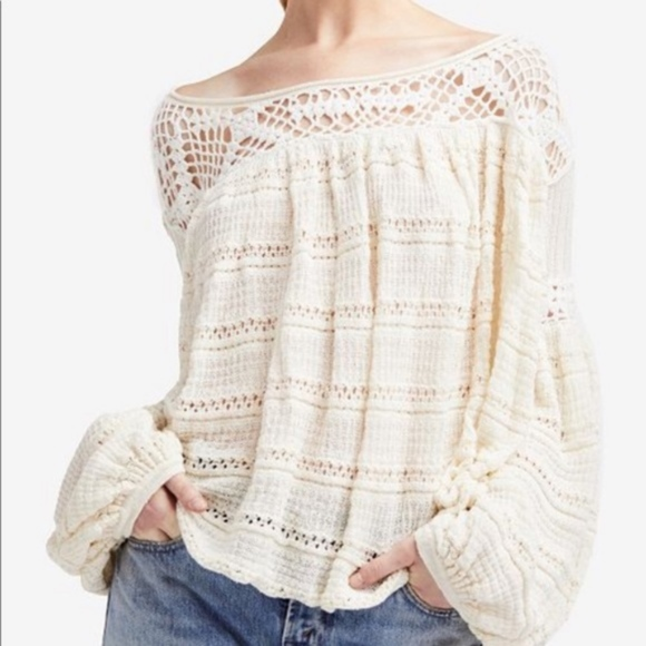 Free People Sweaters | Crochet Someday Sweater Nwot | Poshmark