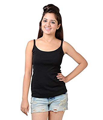NEEVOV Women's Black Spaghetti Top -L: Amazon.in: Clothing & Accessories