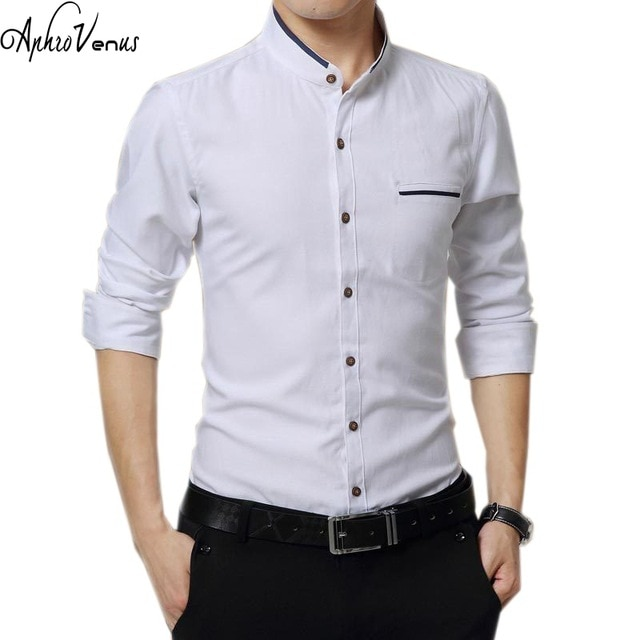 New Brand Shirt 2018 Mens Clothing Autumn Slim Long Sleeve Business