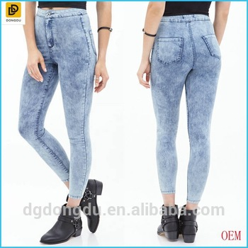 2017 Fashion Stone Washed Skinny Jeans For Women - Buy Jeans