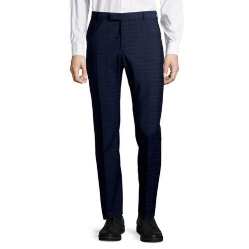 strellson - Mercer Check Suit Pants Navy