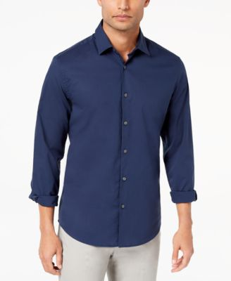 Alfani Men's STRETCH Modern Solid Shirt, Created for Macy's - Casual