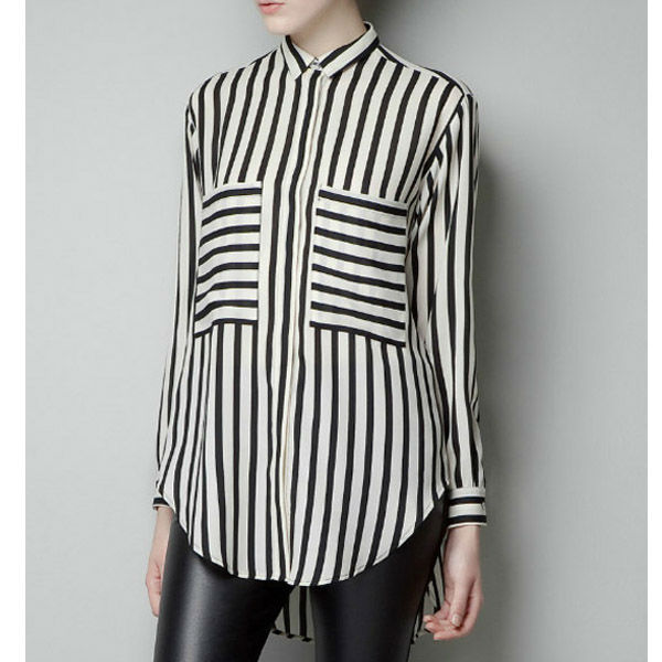 Black and White Striped Blouse on Storenvy