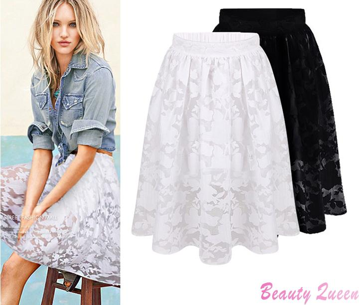2019 Wholesale Woman Summer Skirts Womens 2015 Fashion White Black