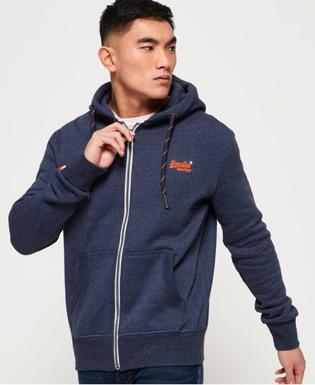 Superdry Orange Label Zip Hoodie - Men's Hoodies