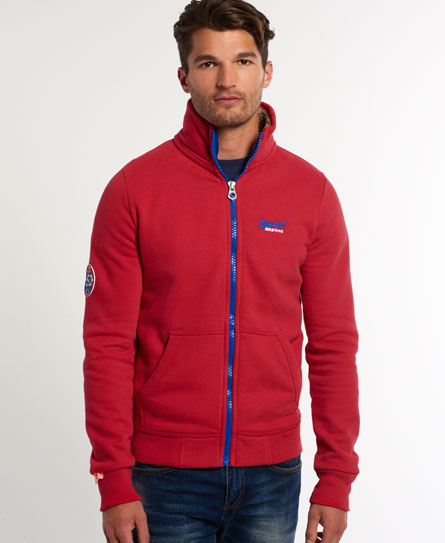 superdry hoodies cheap, Mens superdry track top indiana red supersry