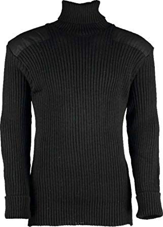 The Chatam Roll Neck Sweater the shoulder and elbow patches #12999